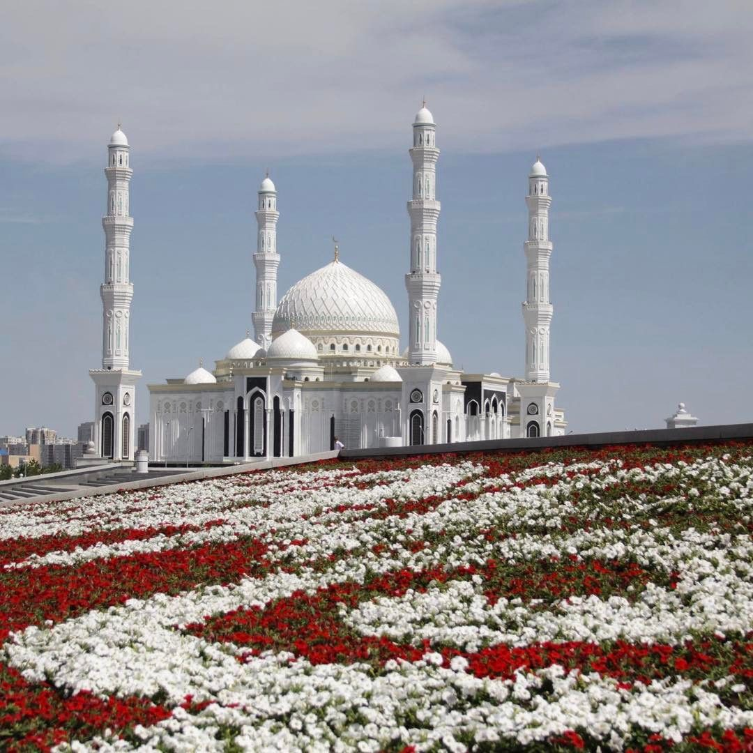 Hazard Sultan Mosque In Astana Kazakhstan Mir Corporation Mir Corporation On Instagram Photo Igor Strebkov Beautiful Mosques Masjid Sultan Mosque