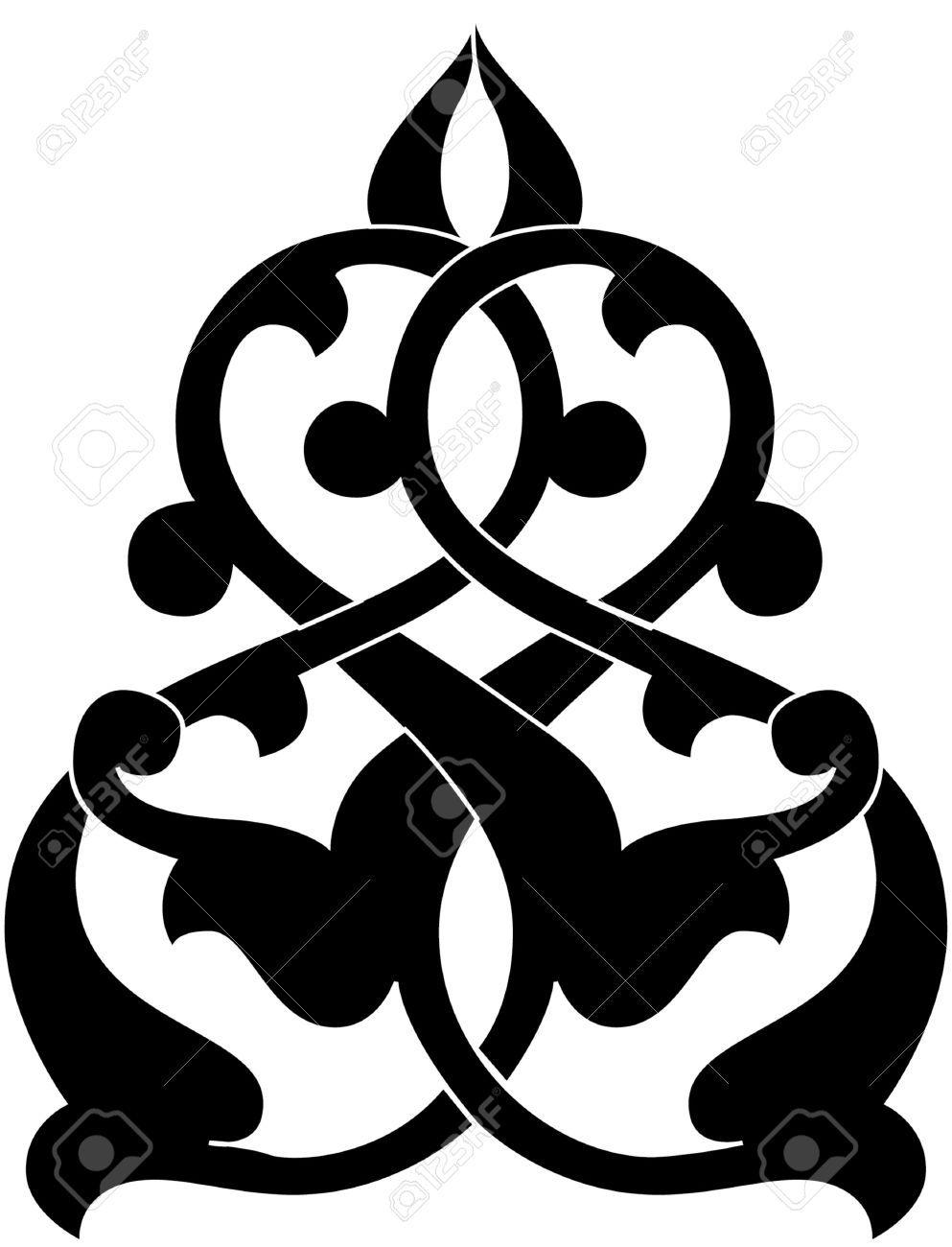 Decorative Design Element, Vector File, Monochrome Royalty ...