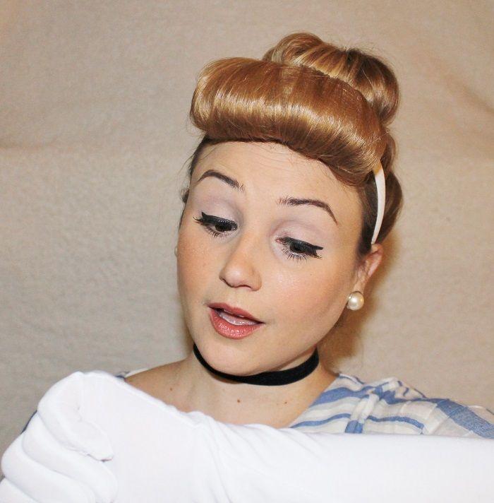 DIY Cinderella hair and makeup for Halloween   Halloween hair, Hair tutorial, Easy hairstyles