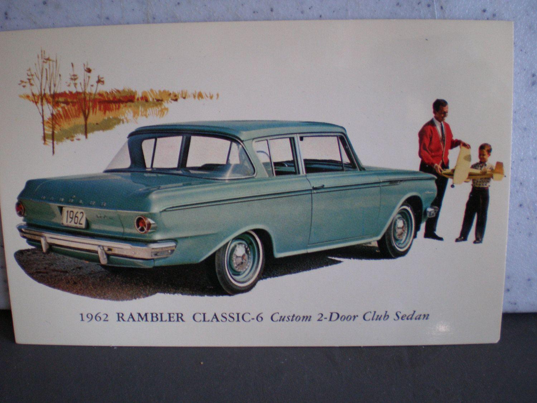 Vintage Mid Century Unused Car Advertisement Postcard - 1962 Rambler Classic by 20thCenturyCool on Etsy
