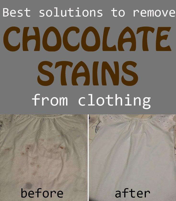 Best Solutions To Remove Chocolate Stains From Clothing Cleaning Ideas Com Chocolate Stains Removing Chocolate Stains Clean House