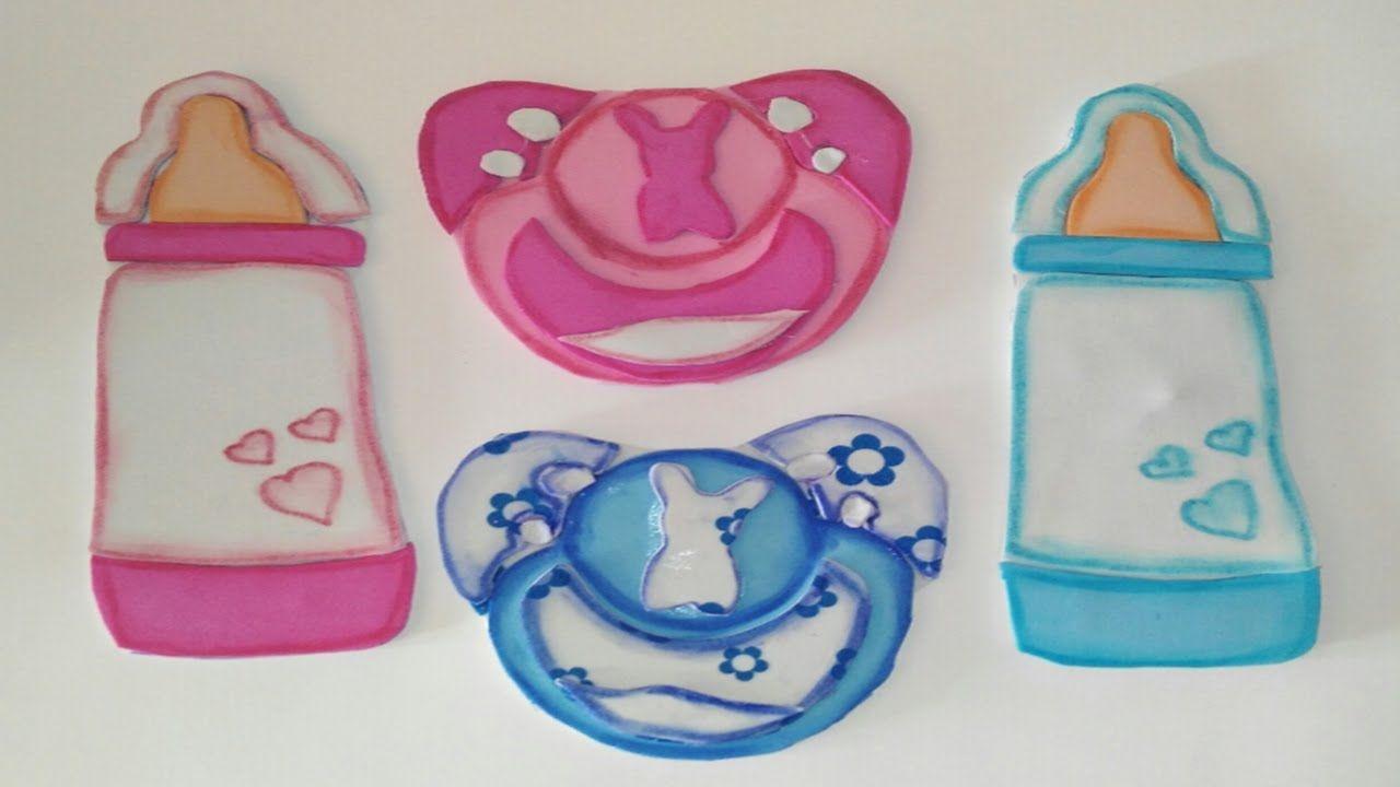 Baby Shower Regalos O Recuerdos De Goma Eva O Foamy Biberon O Chupete Manolidades Souvenirs Diy Baby Shower Decorations Baby Shower Shower Decorations