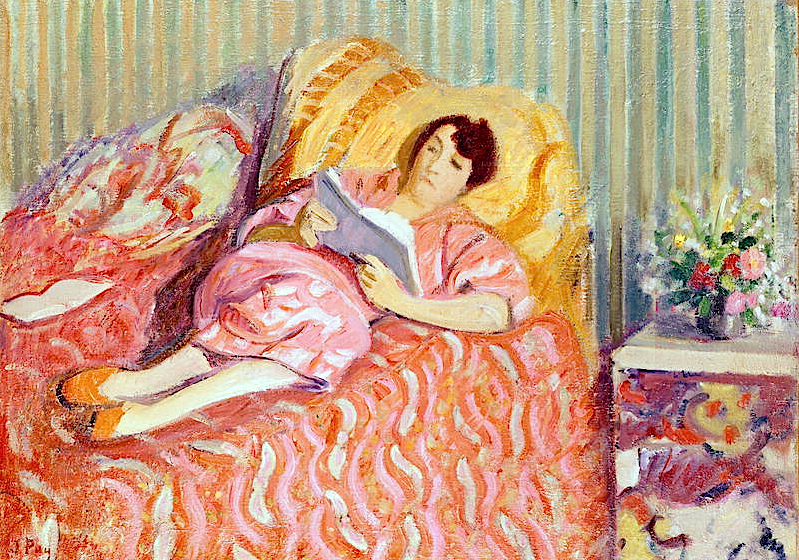 Woman on a Red Couch, 1950, Puy, Jean (1876-1960)