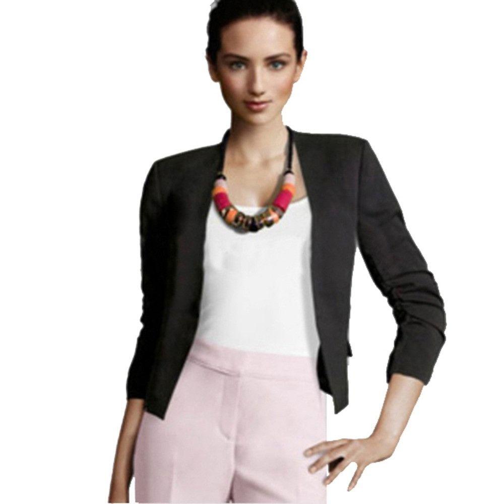 Korean Women's Slim Short Suit Jackets Casual Candy Color Lady Blazer Coat S M L