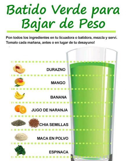 Dieta para adelgazar con batidos verdes