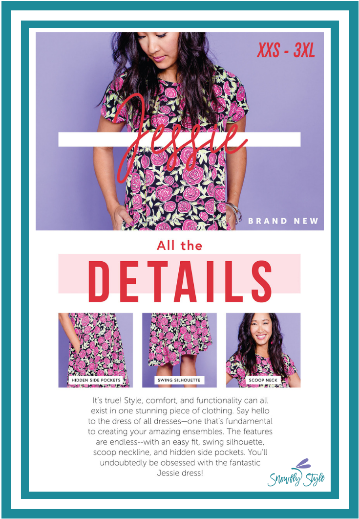 49e00bb81 The LuLaRoe Jessie swing dress features a scoop neckline and hidden pockets  is one of six styles releasing in the LuLaRoe 2019 Valentine's Day Happy  Hearts ...