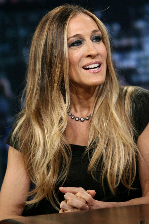 Sarah Jessica Parkers Long Ombre Locks Celebrity Hair And