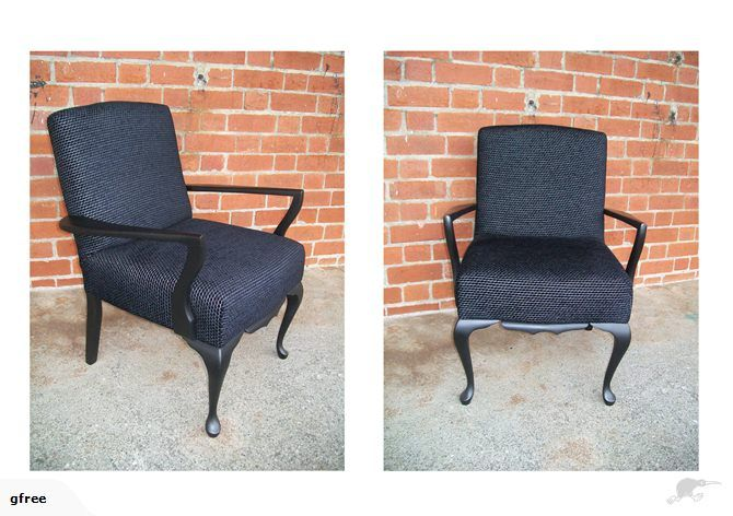 Black Fireside Armchair | Fireside armchair, Armchair ...