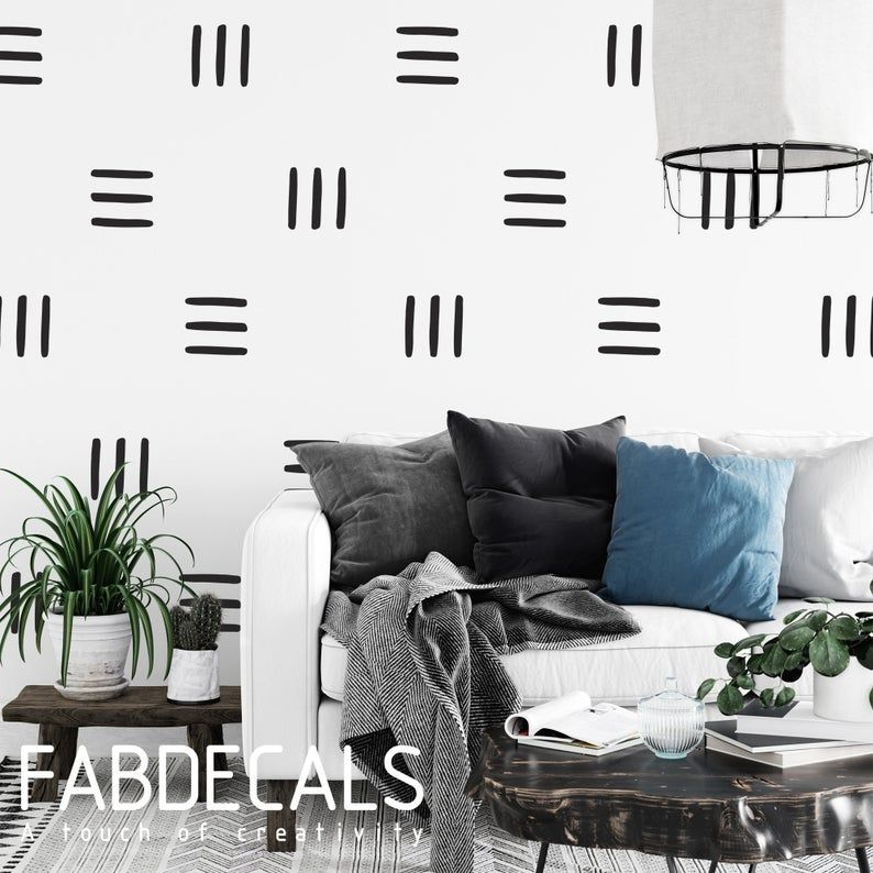 3 Lines Wall Decal Modern Hand Drawing Lines Decor Etsy In 2020 White Wall Stickers Wall Decals Home Wall Decor