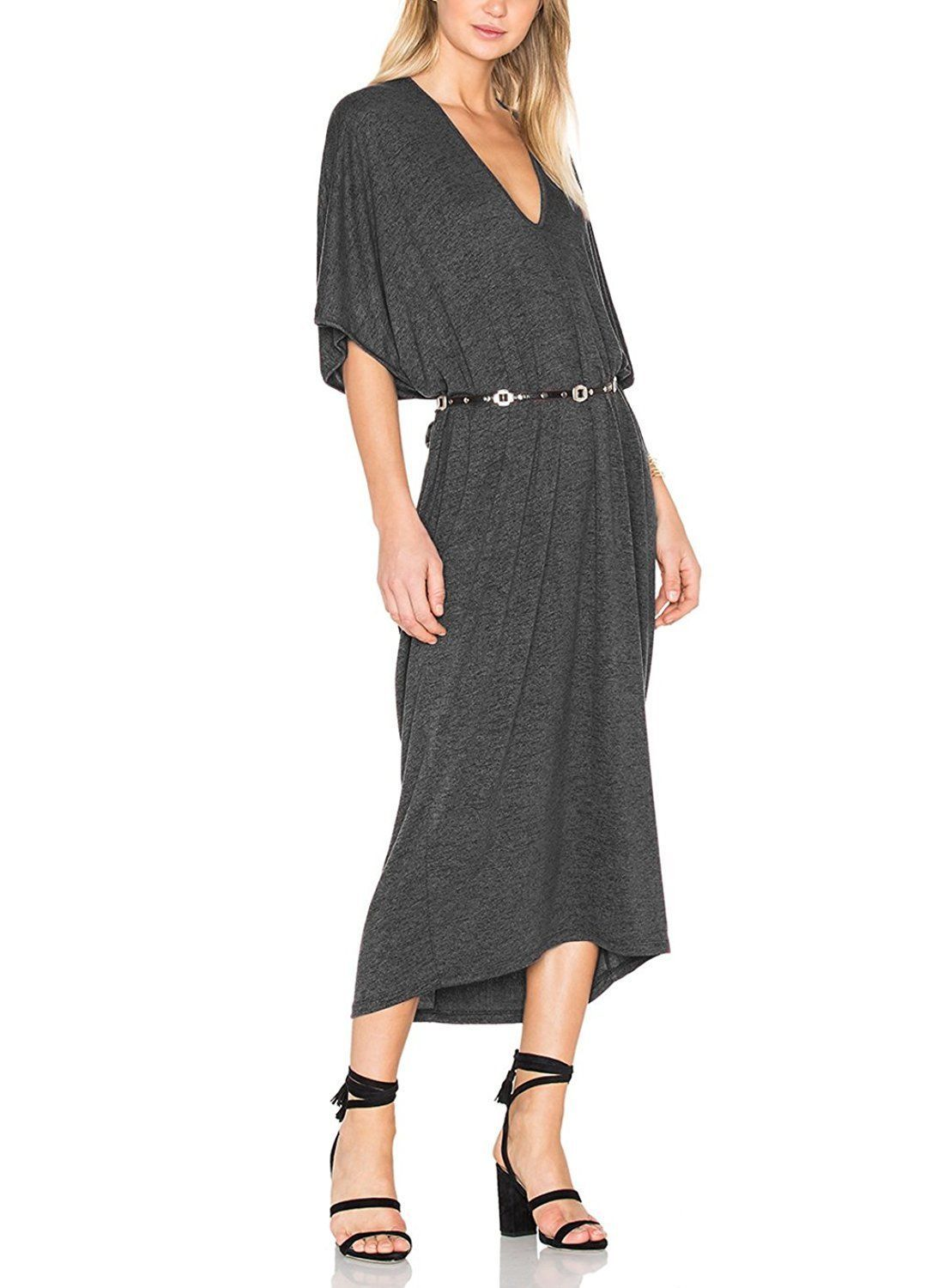 Awesome awesome sarin mathews womens casual v neck loose fit caftan