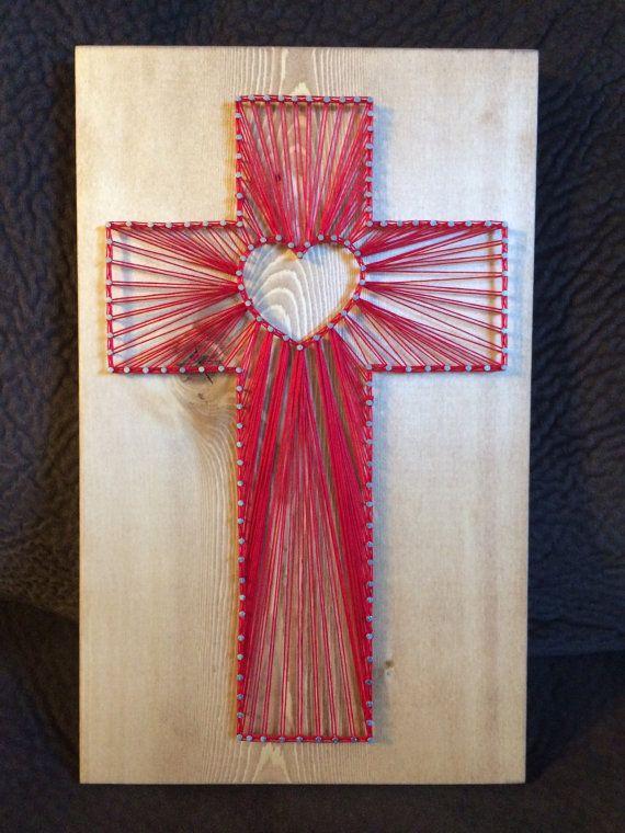 CUSTOM Cross String Art Religious Christian Decor Home Wall Catholic Church Crucifix Birthday Gift For Her Christmas