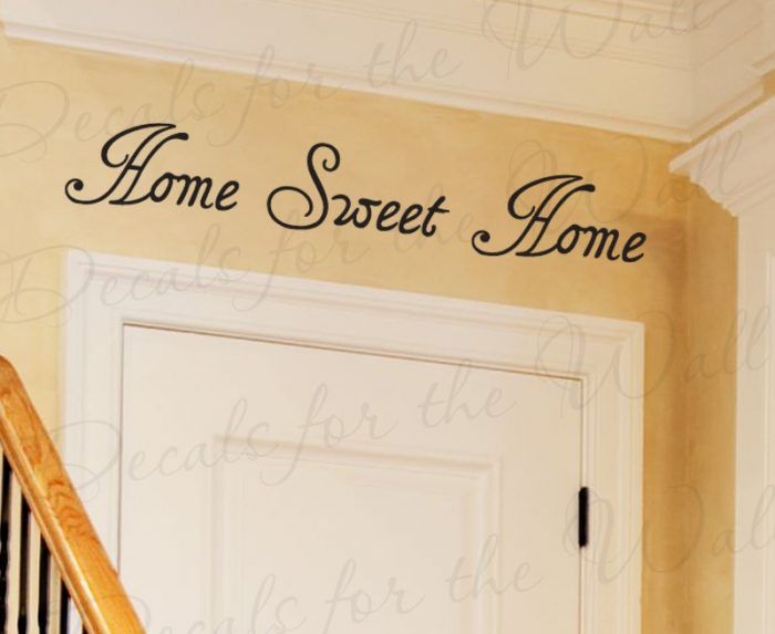 Marvelous Home Sweet Home   Entryway Wall Decal, Wall Quote, Creative Vinyl Art Idea