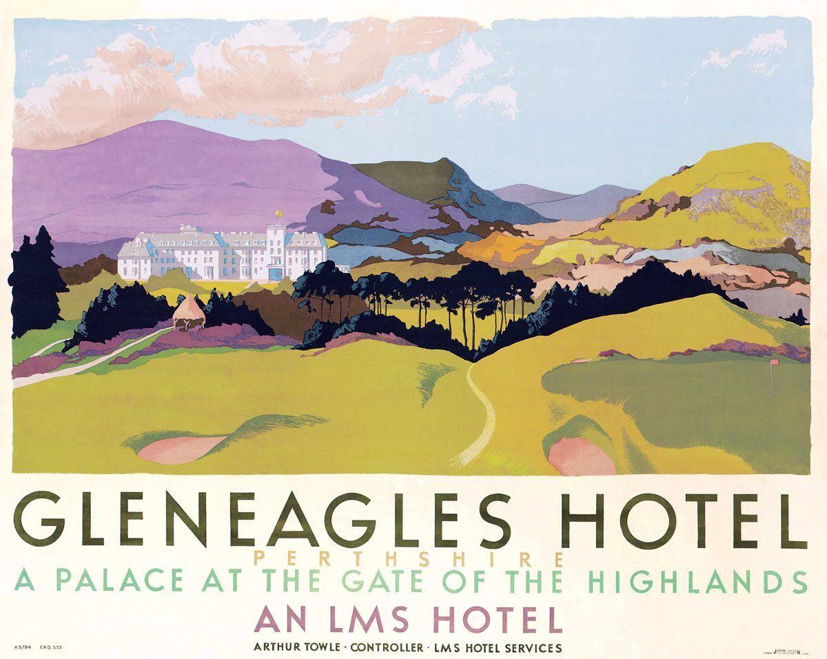 SCOTLAND Gleneagles Hotel, Railway Posters5   VINTAGE UK Wales+ ...