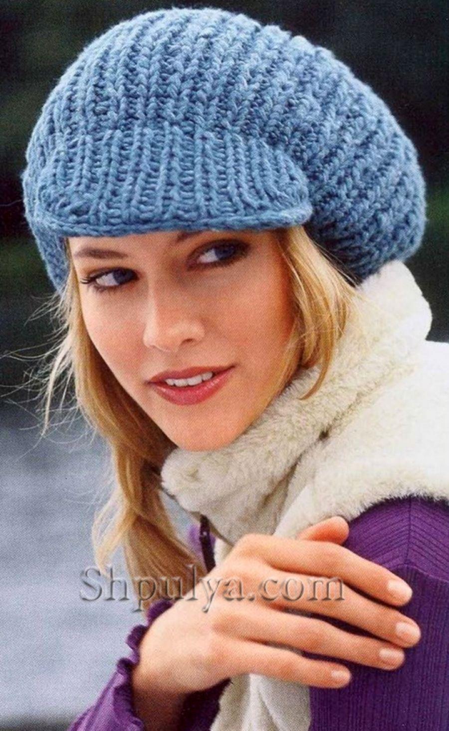 Wwwshpulyacom вязаное женское кепи спицами вязание спицами