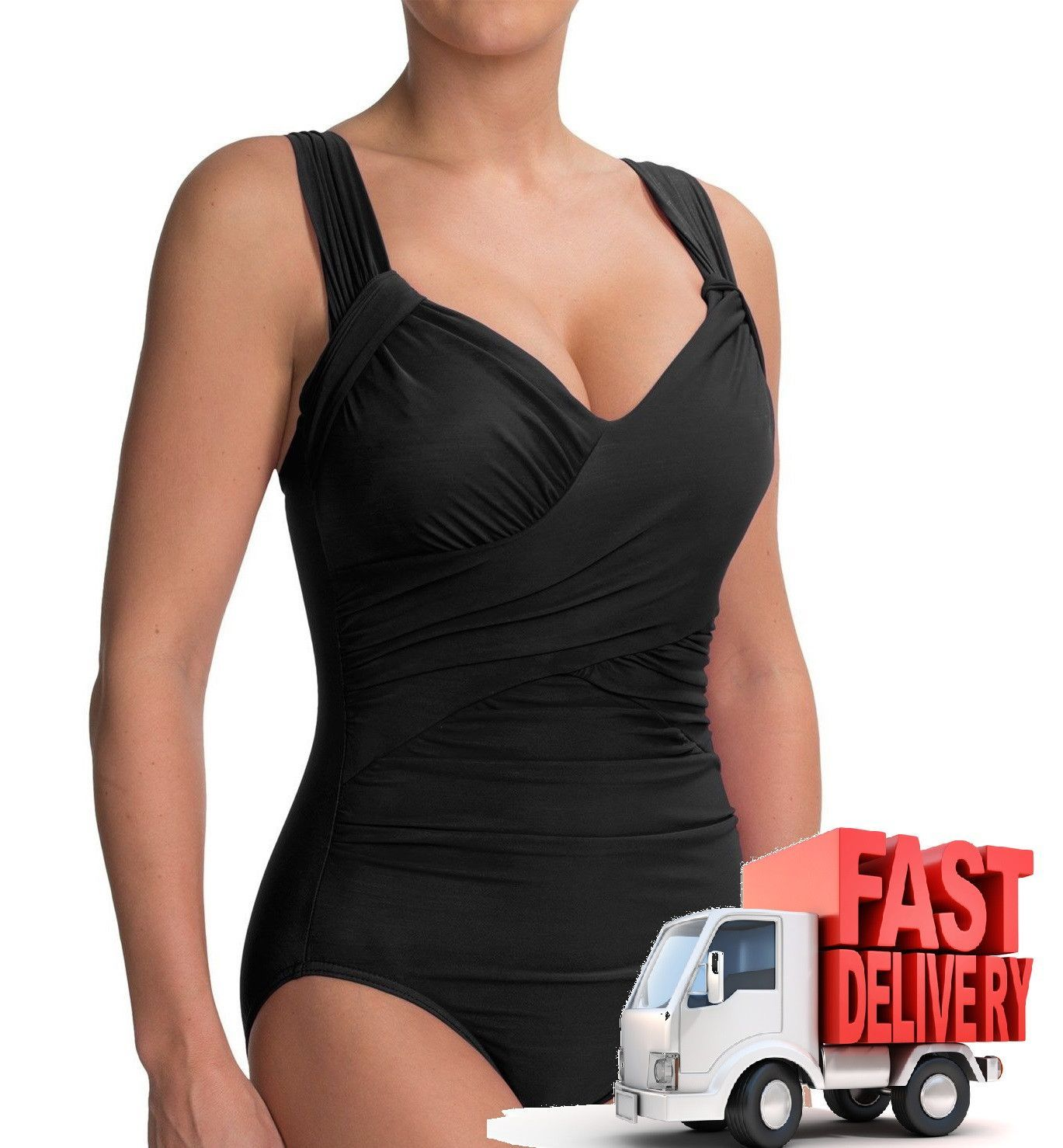 MIRACLESUIT Sweetheart Tank One Piece Swimsuit in Black