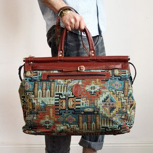 Patterned Fabric Travel Bag, 195€, now featured on Fab.