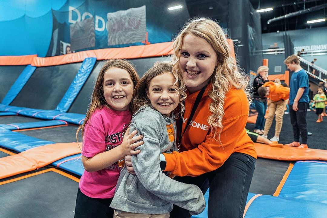 Come see Riley! She's going to be one of our Dodgeball League coaches 😊🔥🥇- #skyzoneclermont #family...