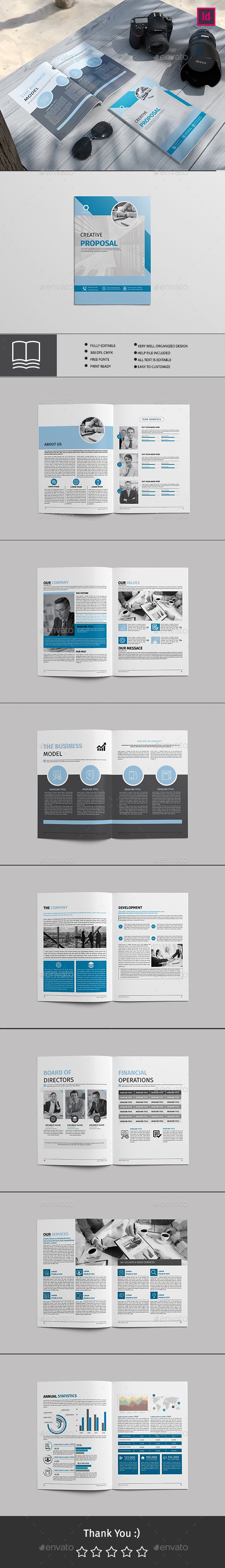 Professional, Clean and Modern 16 Page Corporate Business Brochure ...