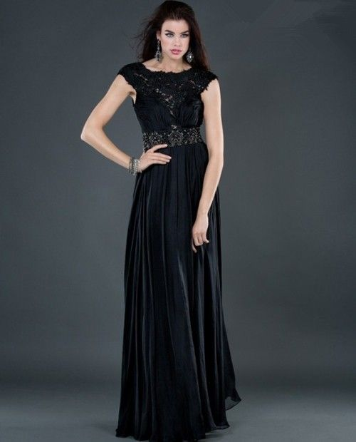 Long black beaded evening dresses | Good style dresses | Pinterest ...