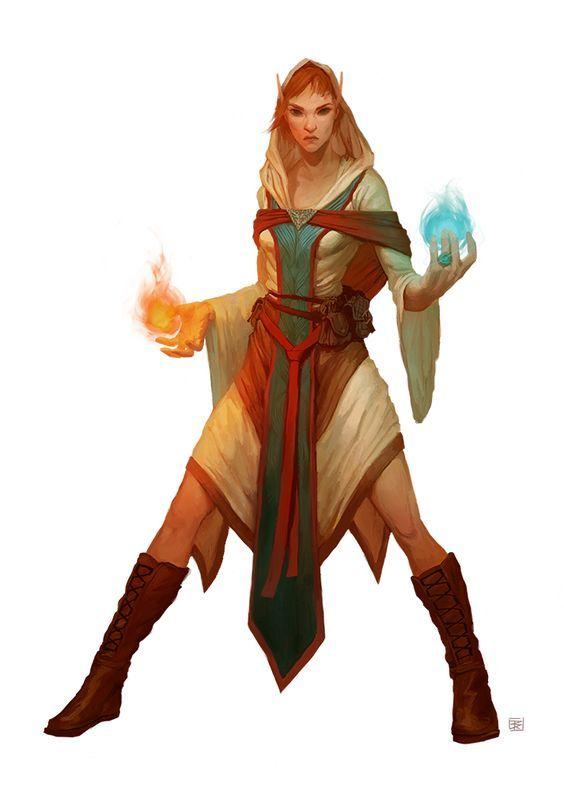 Female Elf Magic Wizard Mage Character Art Character Portraits Fantasy Characters
