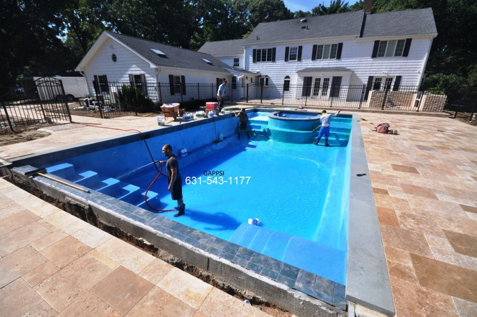 Gunite swimming pool built Upper Brookville NY 11545 by Gappsi ...