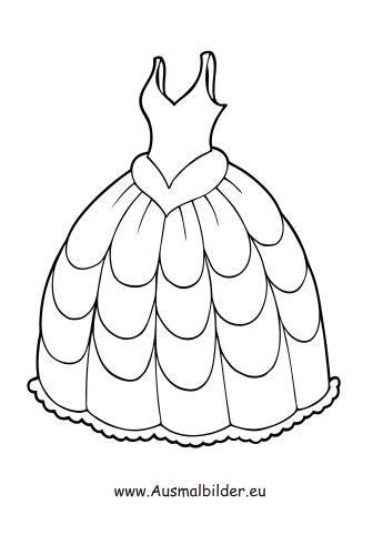 Ausmalbild Brautkleid | DRESSES FOR EMBROIDERY | Pinterest ...
