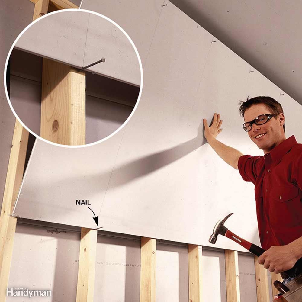 Hanging That Top Course Of Drywall Is Challenging When You Re Alone Make The Job Easier By Cre Home Improvement Projects Diy Home Improvement Home Safety Tips