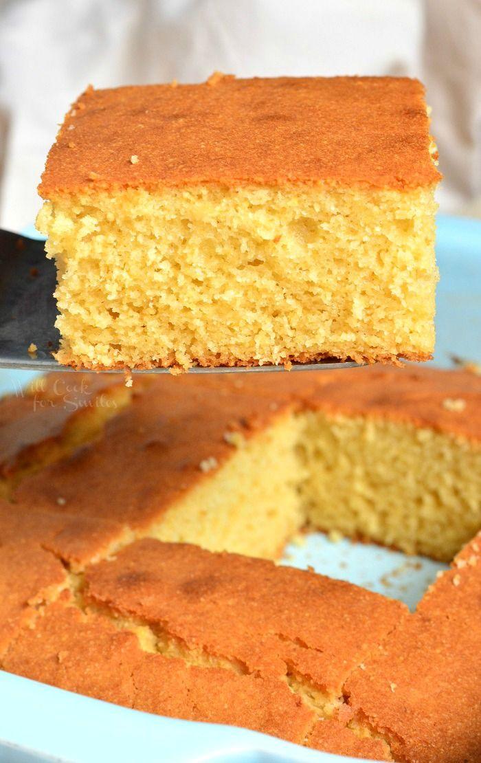 Buttermilk Cornbread - Quick and Easy Sweetened Co
