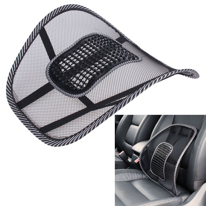 VODOOL Car Seat Cover Comfort Massage Cushion Lumbar Support For Office Chair Back Waist Brace Pad