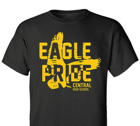 Custom spirit high school t shirt design spiritwear eagle for School spirit shirts designs