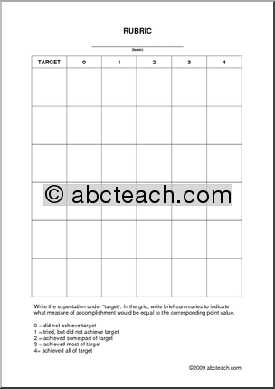 Free Rubric Templates   Rubric: Template (in pdf) - preview 1 ...