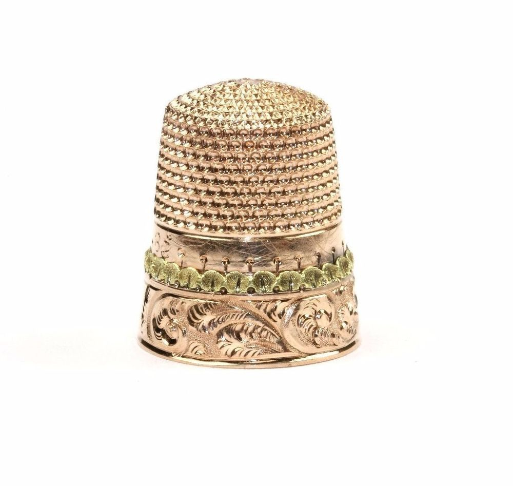 ESTATE SOLID 10K GOLD SEWING THIMBLE - 4 GRAMS - GPD 114