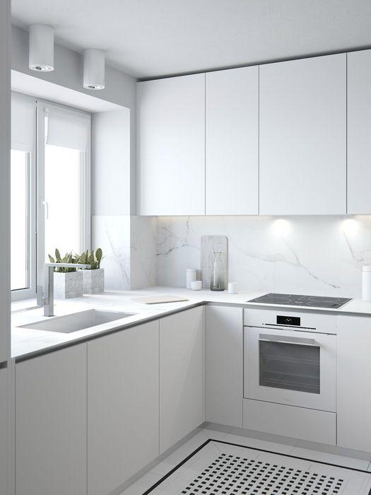 PHOTOGRAPHIC Minimalista Pinterest Cocinas, Casas y Cocinas - Cocinas Integrales Blancas