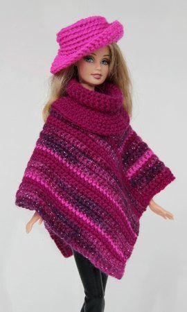 Häkelanleitung: Poncho in verschiedenen Varianten + Hut #crochettoys