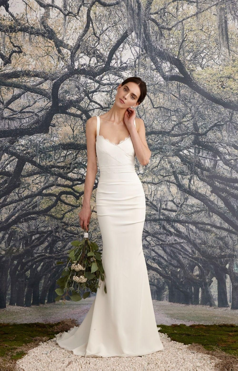 99c22352fc19 Nicole Miller Bridal Nicole Miller Tonya Stretch V Neck Gown Antique White  Women's Dress 2 Wedding Dress. Nicole Miller Bridal Nicole Miller Tonya  Stretch V ...