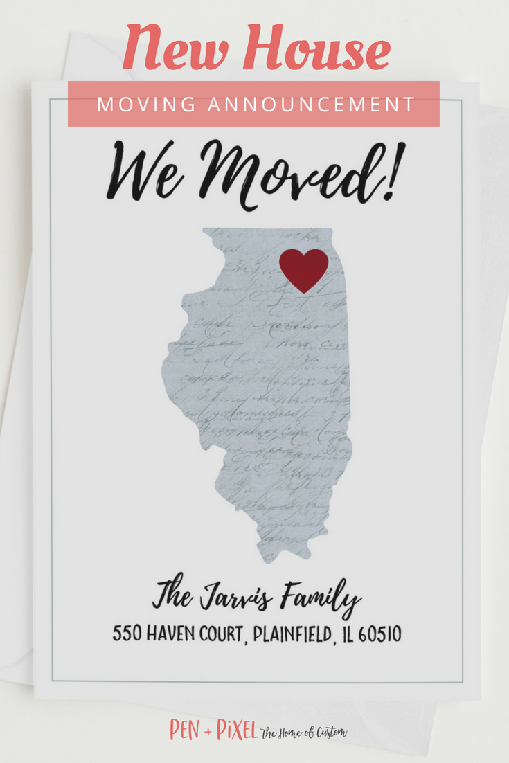 Moving Announcement Change Of Address New Home Moving