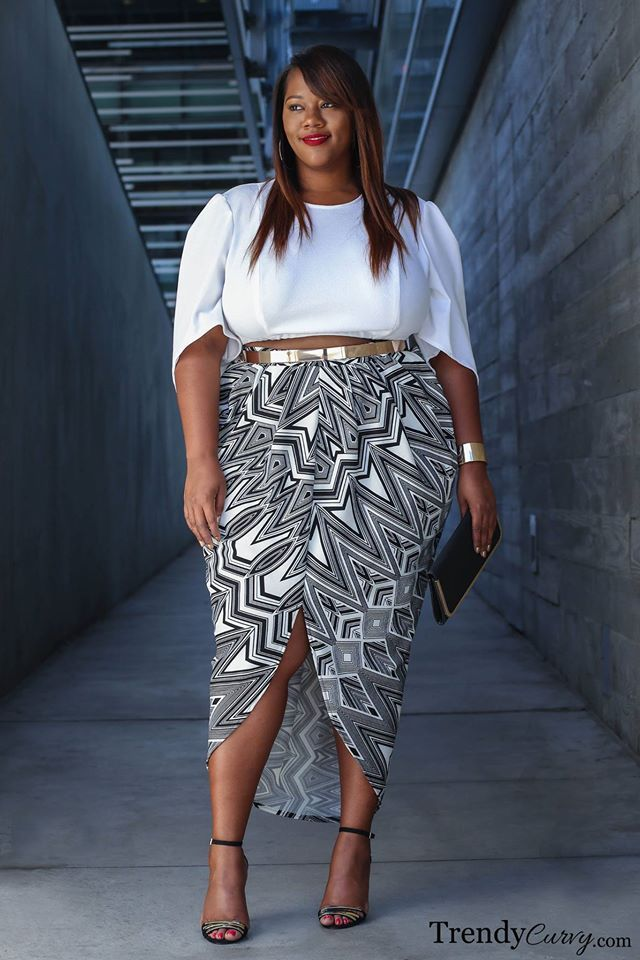 901e68950 50+ Stunning Crop Top Ideas For Plus Size Ladies | Plus size outfit ...
