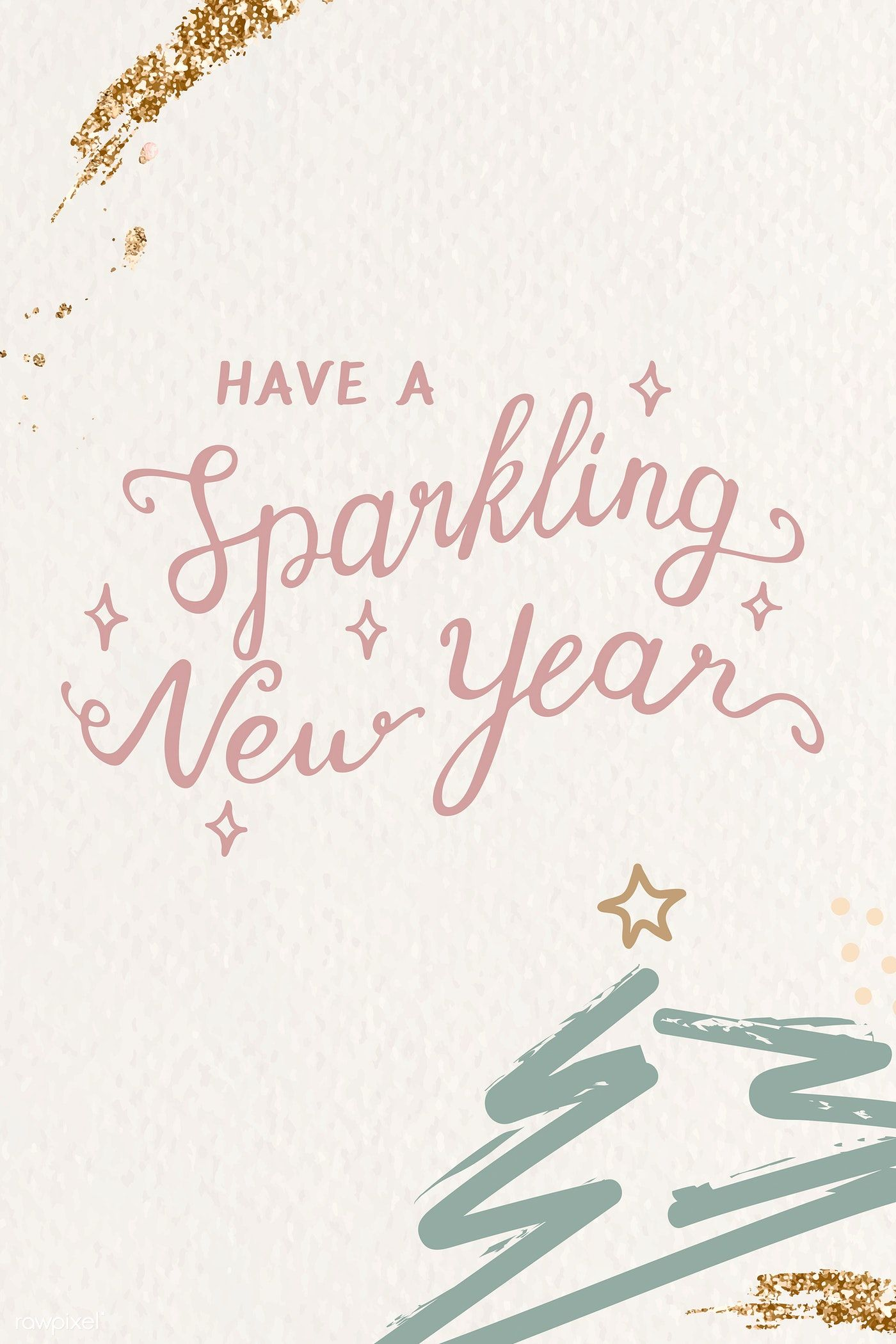 Download premium vector of Have a sparkling new year card