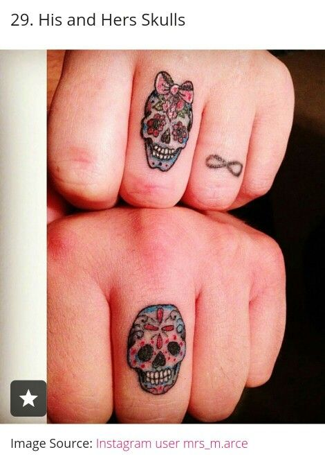 His And Her Sugar Skulls