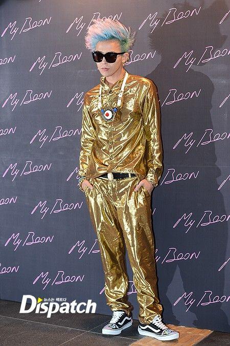 ... dresses in all gold for Ambush launch party in Gangnam. Gold and  Diamonds Boy. G-Dragon dd412eba8