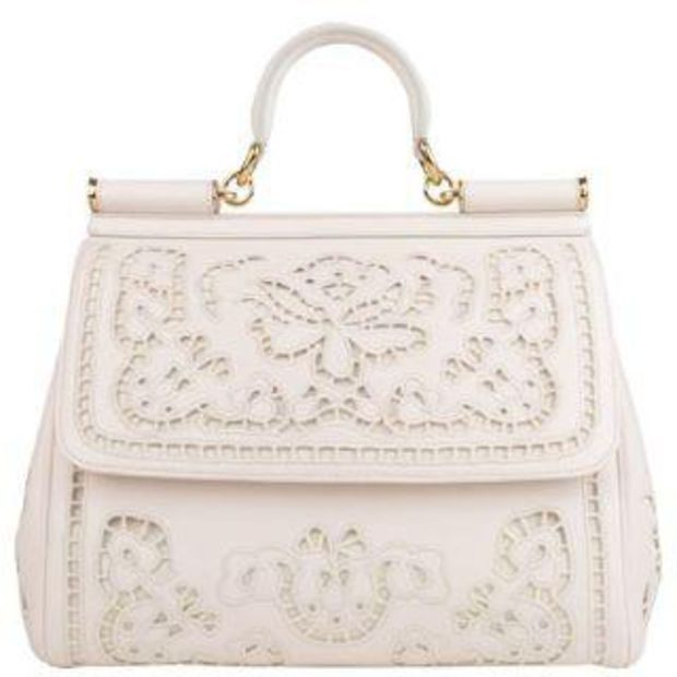 DOLCE AND GABBANA Miss Sicily Embroidered Laser Cut Tote - Flannels ... 30cdce7c00