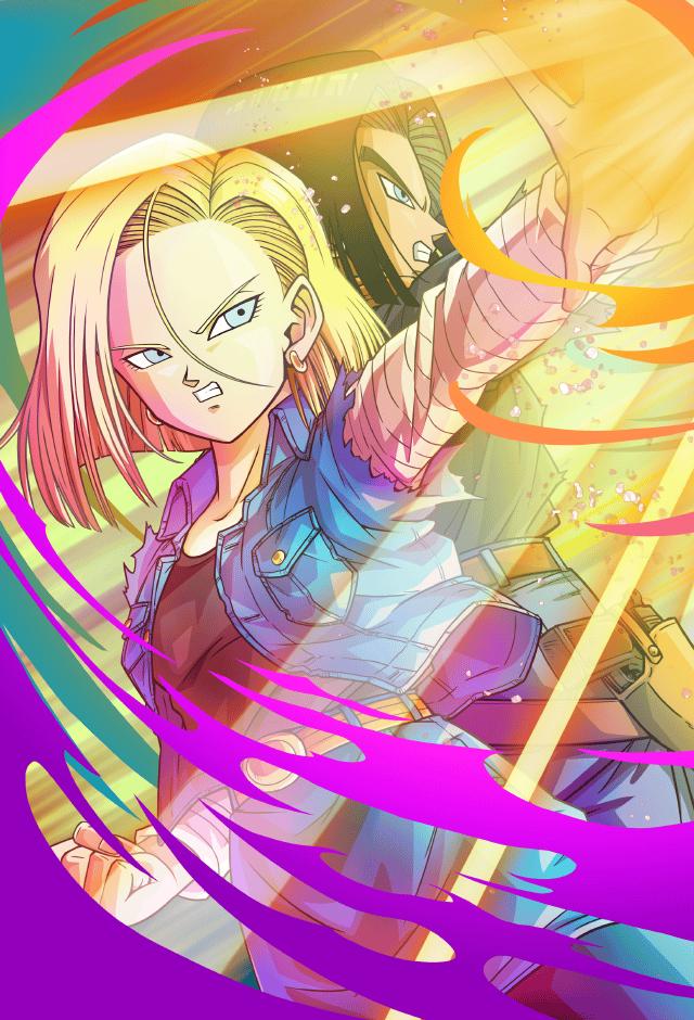 Android 17 18 Card Bucchigiri Match By Maxiuchiha22 Dragon Ball Artwork Anime Dragon Ball Super Dragon Ball Art