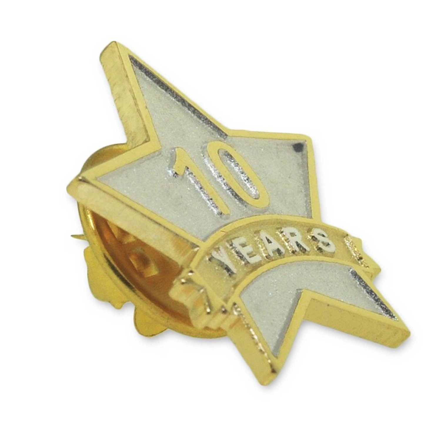 Pinmart S 10 Year Service Award Star Corporate Recognition Dual Plated Lapel Pin Cy11nkc2f2d Lapel Pins Service Awards Celine Luggage Bag