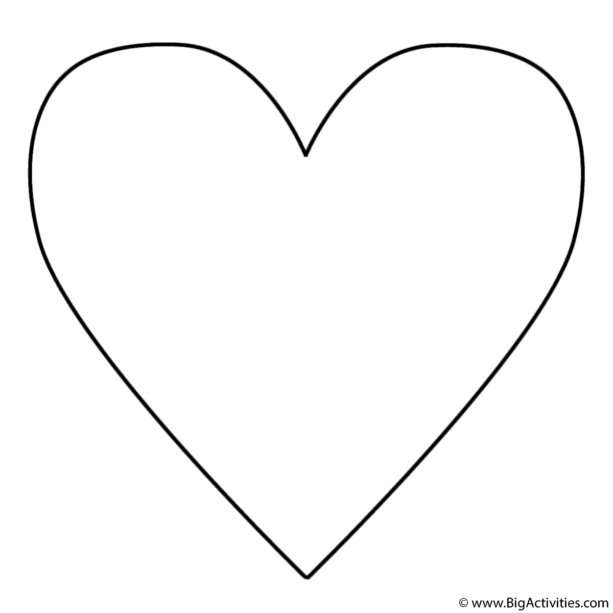 - Simple Heart - Coloring Page Mother's Day, Mothers Day Coloring