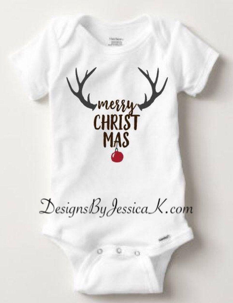 Christmas Baby /& Toddler Long Sleeve T-shirt Rudolph
