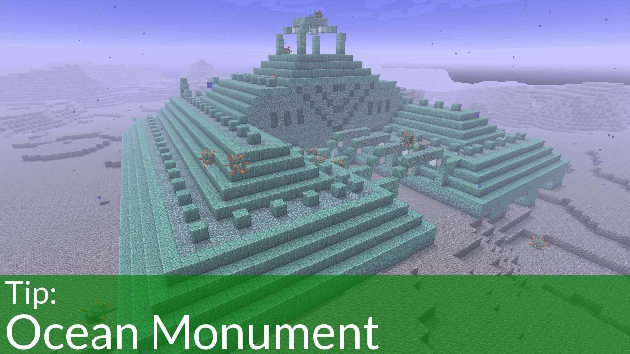 Tip Ocean Monuments In Minecraft With Images Minecraft Underwater