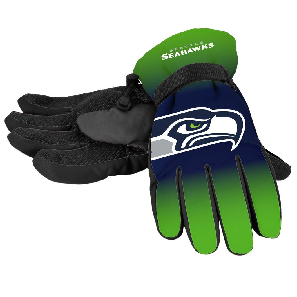 Seattle Seahawks Gloves Insulated Gradient Big Logo Size