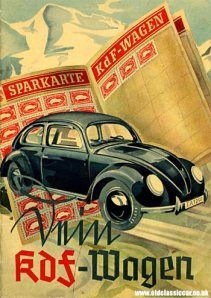 Cartilla promocional del KdF (Muestra la cartilla de estampillas de ahorro previo para la adquisición de un KdF). 1939