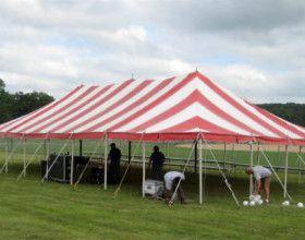 30 X60 Gala Rope Amp Pole Event Tent Rental Ceder Rapids