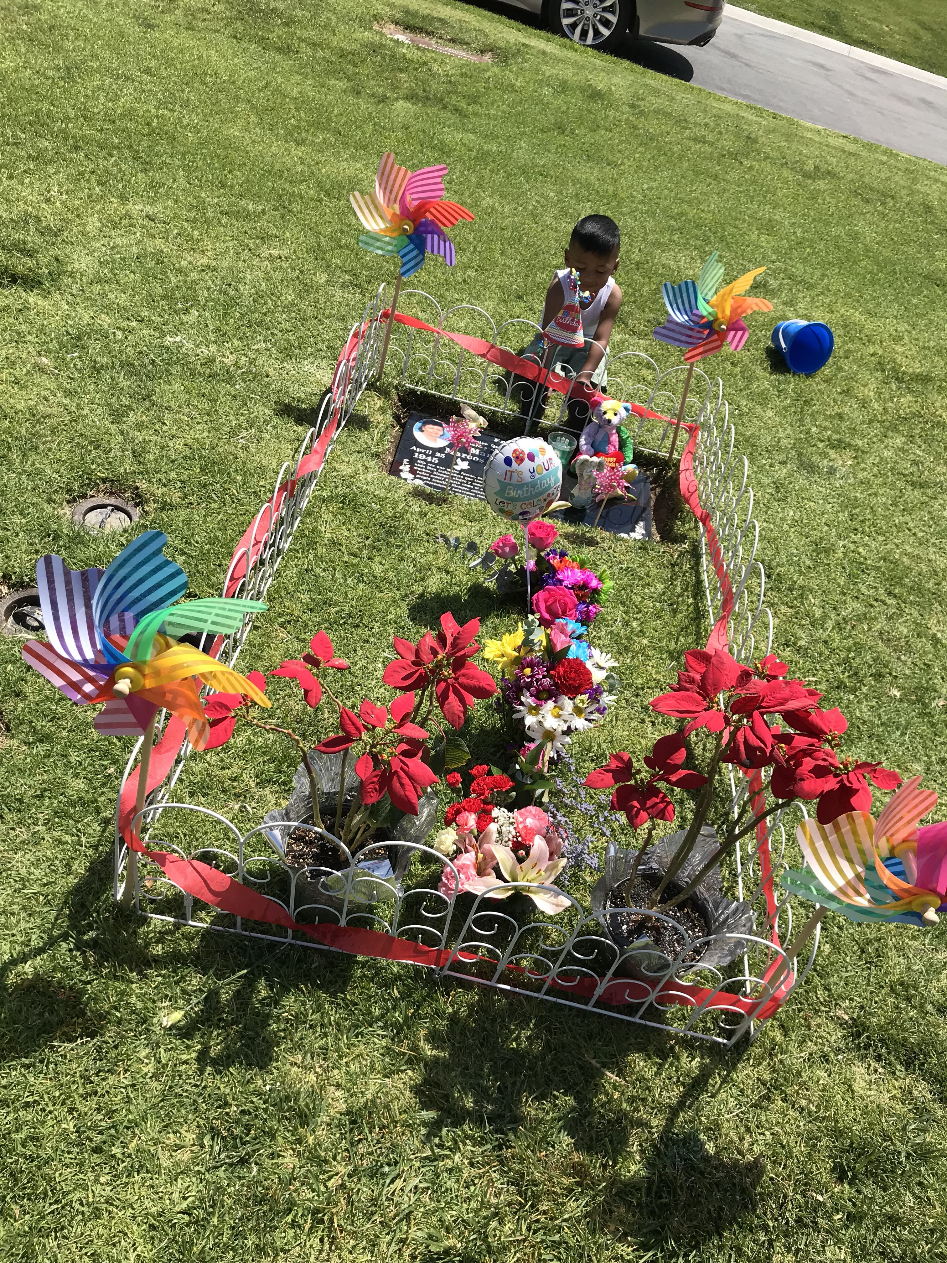 April 26, 2018 Cemetery decorations, Christmas ornaments